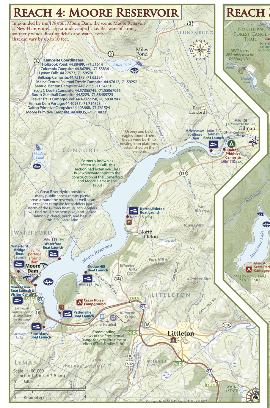 Connecticut River Paddlers\' Trail (VT/NH) WaterProof Recreation Map ...