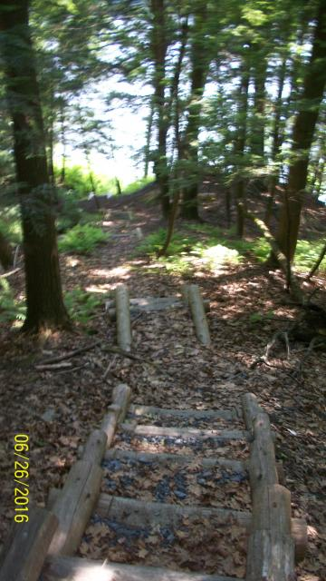 Stairs at the SCA campsite