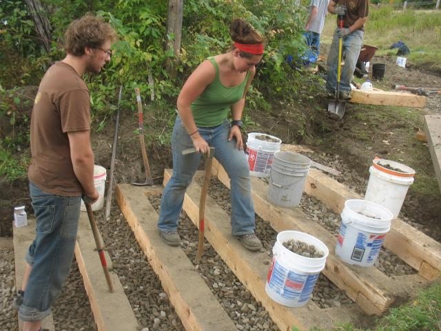 NorthWoods Crew working on new river access in Lemington, VT