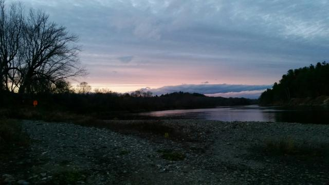 Burnham Meadow Sunset in November